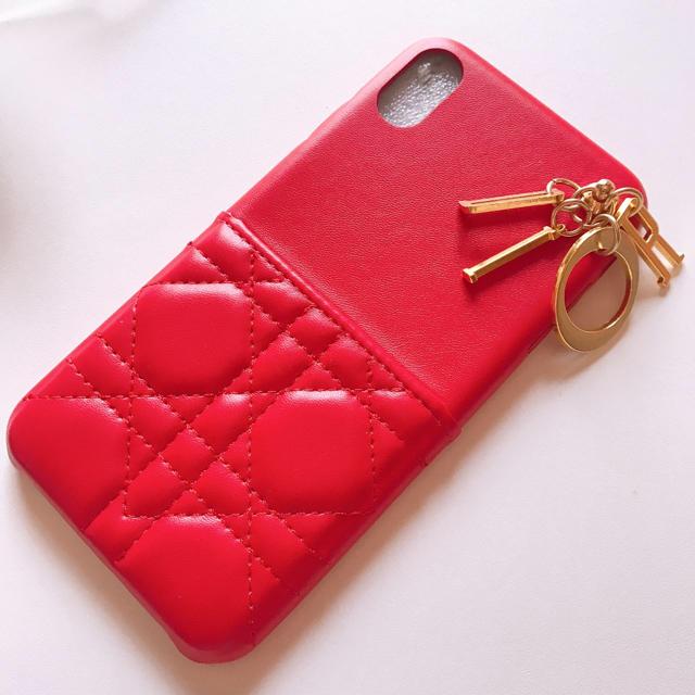 キルティング i Phone XR  ケース red 残り1点  即日発送可能の通販 by coco♡pink|ラクマ