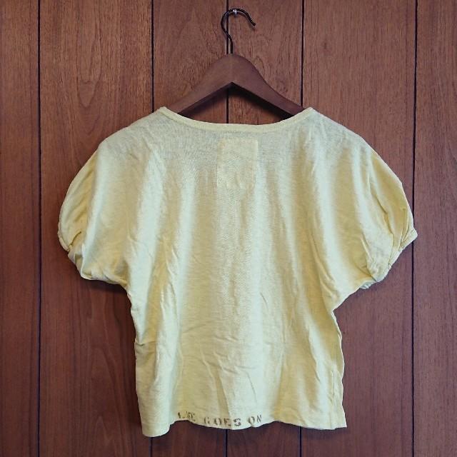 GO TO HOLLYWOOD(ゴートゥーハリウッド)のgo to hollywood 140 イエローパフスリーブTシャツ キッズ/ベビー/マタニティのキッズ服女の子用(90cm~)(Tシャツ/カットソー)の商品写真