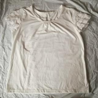 シマムラ(しまむら)のレース 半袖カットソー  3L 白(カットソー(半袖/袖なし))