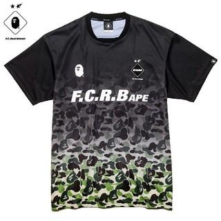 アベイシングエイプ(A BATHING APE)のbape fcrb ゲームシャツ 黒 S(Tシャツ/カットソー(半袖/袖なし))