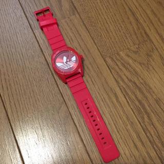 アディダス(adidas)のdidas アディダス 腕時計 SANTIAGO トレフォイル アナログレッド (腕時計(アナログ))
