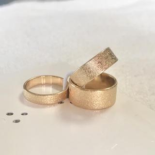 エイチアンドエム(H&M)の新品 H&M ゴールド指輪 3点セット つや消し(リング(指輪))