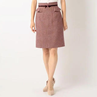 ミッシュマッシュ(MISCH MASCH)のミッシュ・マッシュ(MISCH MASCH)♡新品チェックぺプラムタイトスカート(ひざ丈スカート)
