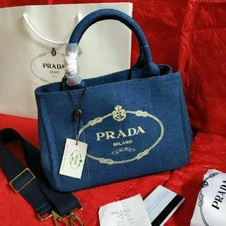 43f90aa13138 PRADA - プラダ カナパトート カーキ Sサイズ キャンバス ハンドバッグの ...