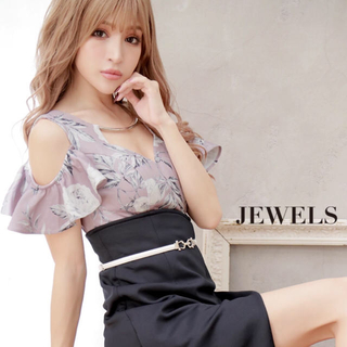 JEWELS - Jewels キャバドレス フラワー柄