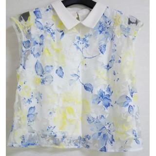 ミスティウーマン(mysty woman)の花柄 レース 半袖(Tシャツ(半袖/袖なし))