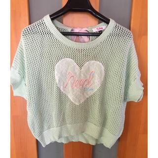 087f7efed00e9 ピンクラテ(PINK-latte)の子供ニット150(Tシャツ カットソー)