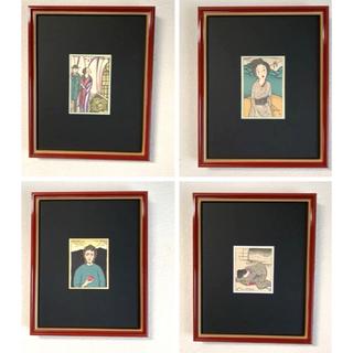 【特別価格】竹久夢二 本物大正時代木版画 「サンタ・マリア」