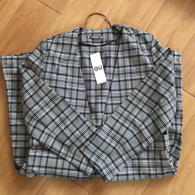 GU(ジーユー)のGU ノーカラーガウンコート ブラウン M レディースのジャケット/アウター(ガウンコート)の商品写真