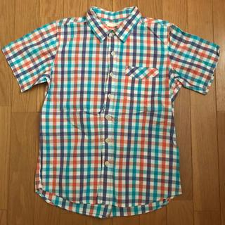ジーユー(GU)のGU 半袖シャツ チェック柄 150(ブラウス)