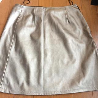 ジーユー(GU)のシャンパンゴールド スカート(ミニスカート)
