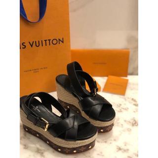 ルイヴィトン(LOUIS VUITTON)のルイヴィトン サンダル 厚底靴 レディース(サンダル)