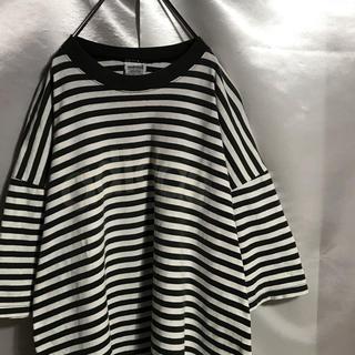アディダス(adidas)の80〜90sヴィンテージ adidas Tシャツ 初期万国旗タグ ボーダーシャツ(Tシャツ/カットソー(半袖/袖なし))