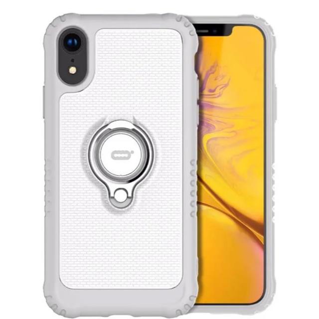 iPhone XR 6.1インチ リング付きケース ホワイトの通販 by ちゃんなつ's shop|ラクマ