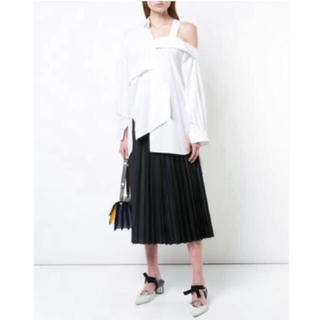 エンフォルド(ENFOLD)のENFOLD  off shoulder asymmetric shirt(シャツ/ブラウス(長袖/七分))