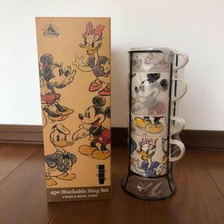 Disney - *新品・未使用* ディズニー マグカップ タワー 4個セット