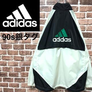 アディダス(adidas)の【激レア】アディダス90s銀タグ刺繍ビッグロゴ ビッグサイズ ナイロンジャケット(ナイロンジャケット)