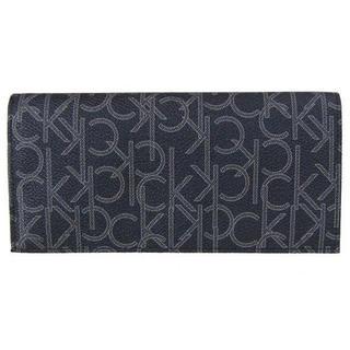 カルバンクライン(Calvin Klein)の新品 CK 長財布 ブラック レザー 79467(長財布)