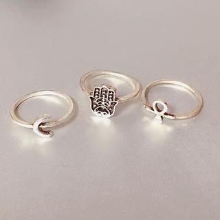 チチカカ(titicaca)の指輪 11号 シルバー 3点セット(リング(指輪))