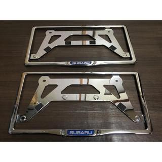 スバル(スバル)のSUBARU スバル 純正ナンバーフレームカバー 美品(車外アクセサリ)
