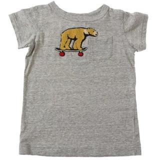 エフオーキッズ(F.O.KIDS)の美品!F.O.kids 北欧  ブリーズ くま 半袖 Tシャツ グレー 120(Tシャツ/カットソー)