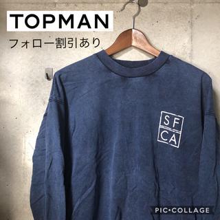 トップマン(TOPMAN)の【90's】TOPMAN バックプリント リブスウェット(スウェット)