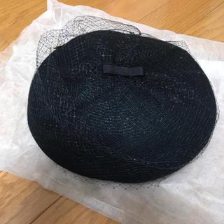 アンテプリマ(ANTEPRIMA)のベレー帽 ブラック(ハンチング/ベレー帽)