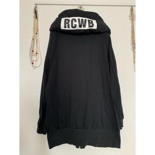 ロデオクラウンズワイドボウル(RODEO CROWNS WIDE BOWL)のRCWBビックカラーパーカーブラックスウェットロデオクラウン(パーカー)