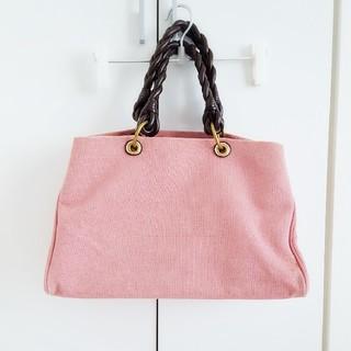 ボッテガヴェネタ(Bottega Veneta)の定価20万 トートバッグ  マザーズバッグ ボストンバッグ 大容量 ピンク 茶色(トートバッグ)