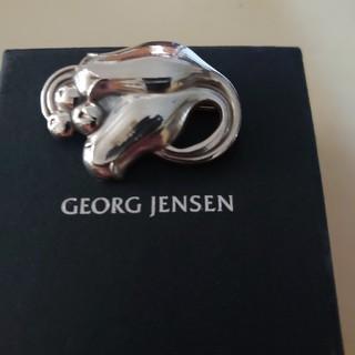 ジョージジェンセン(Georg Jensen)のアンティーク ジョージジェンセン 100B チュウーリップ ブローチ(ブローチ/コサージュ)