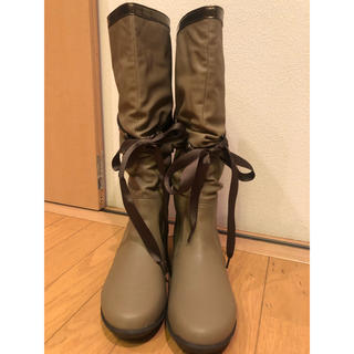 ヌォーボ(Nuovo)のリボン付きレインブーツ(レインブーツ/長靴)