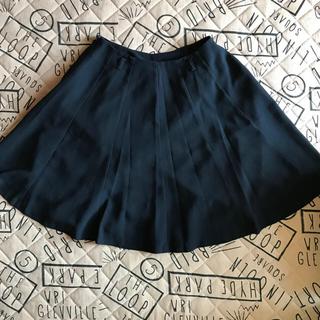 【夏物最終値下げ】ネイビー フレアスカート(ひざ丈スカート)