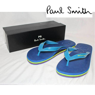 ポールスミス(Paul Smith)の《ポールスミス》新品 ビーチサンダル カジュアルサンダル ブルー S(25cm)(サンダル)