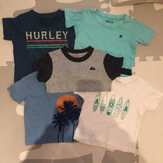 ハーレー(Hurley)のハーレー クイックシルバー サーフ系 Tシャツ 五点セット 80cm 90cm(Tシャツ)