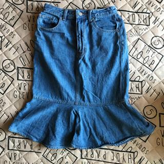 ジーユー(GU)の【夏物最終値下げ】gu  デニムスカート(ひざ丈スカート)