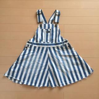 ブリーズ(BREEZE)のBREEZ デニムオーバーオールスカート 140(スカート)