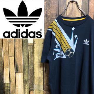 アディダス(adidas)の【激レア】アディダスオリジナルス☆トレフォイル刺繍ロゴプリントTシャツ 90s(Tシャツ/カットソー(半袖/袖なし))