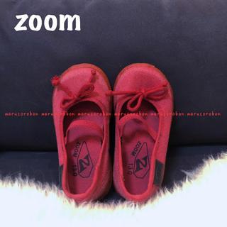 ズーム(Zoom)のZOOM ズーム リボン フラットシューズ スニーカー キャンバス ザラベビー(スニーカー)