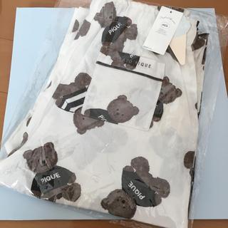 ジェラートピケ(gelato pique)のジェラートピケ☆テディベア ロングパンツ ホワイト☆レディース パジャマ クマ柄(パジャマ)