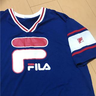 フィラ(FILA)の大幅値下げ!状態良好!FILA ビックロゴ Tシャツ(Tシャツ/カットソー(半袖/袖なし))