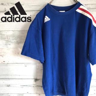 アディダス(adidas)の【レア】アディダス adidas☆プリントワンポイントロゴ サイドライTシャツ(Tシャツ/カットソー(半袖/袖なし))