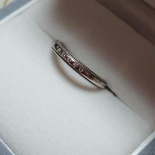 ヨンドシー(4℃)の◇美品◇4℃プラチナミル打ちダイヤリング(リング(指輪))
