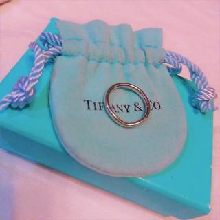 ティファニー(Tiffany & Co.)のTIFFANY&Co. ☆Pt950 カーブドバンド リング 4号(リング(指輪))