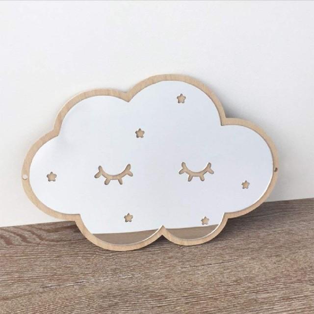 雲のウォールミラー 北欧インテリア インテリア/住まい/日用品のインテリア小物(壁掛けミラー)の商品写真