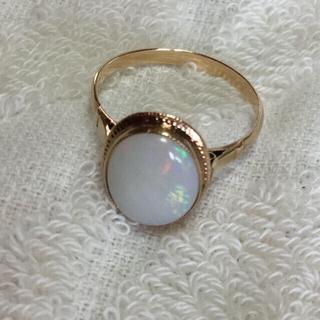昭和レトロなオパールリング K18(リング(指輪))