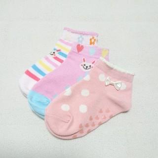 サンカンシオン(3can4on)の子ども 靴下 3足セット(靴下/タイツ)