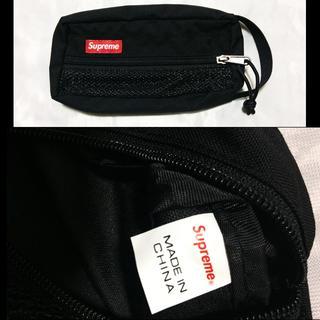 シュプリーム(Supreme)のSupreme Mesh Organizer Bags 15ss ブラック(小)(セカンドバッグ/クラッチバッグ)