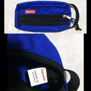 シュプリーム(Supreme)のSupreme Mesh Organizer Bags 15ss ブルー(小)(セカンドバッグ/クラッチバッグ)