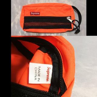 シュプリーム(Supreme)のSupreme Mesh Organizer Bags 15ss オレンジ(小)(セカンドバッグ/クラッチバッグ)