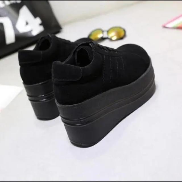 厚底スニーカー レディース ブラック レディースの靴/シューズ(ブーティ)の商品写真
